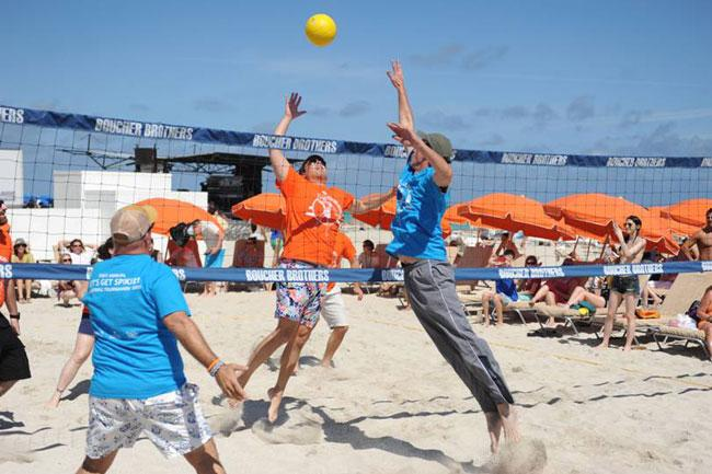Chefs and volleyball: Kris Wessel, chef at Florida Cookery, appears to have actually played volleyball before . The Let's Get Spiked Celebrity Chef Volleyball tournament, organized by chef Spike Mendelsohn, was Friday at The James Royal Palm Hotel.