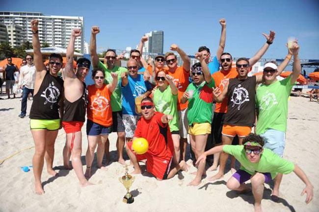 "More chefs and volleyball: Chefs and recipients of some much needed sun in the tournament included pastry chef and ""Top Chef Just Desserts"" host Johnny Iuzzini, Miami chef Adrianne Calvo and New York chef Josh Capon."