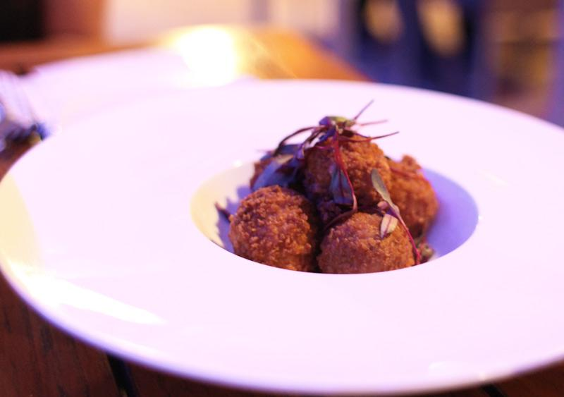 Croquetas and rye bread: Chefs Roberto Trevino and Eric Greenspan served  pickle-and-pastrami croquetas, breaded with rye crumbs, at the weekend pop-up restaurant, El Nosh Latin deli.