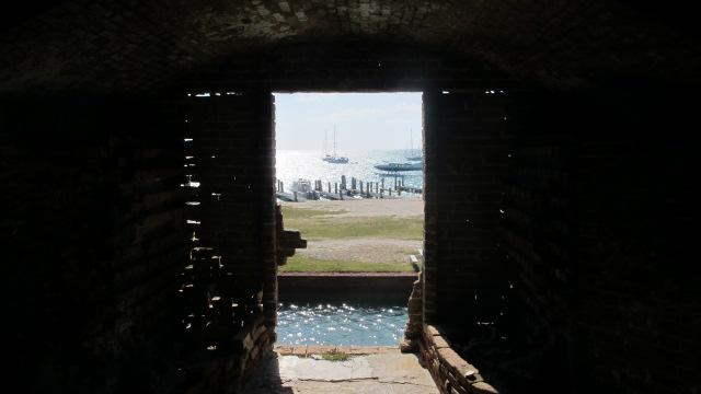 The view from Fort Jefferson's front door.