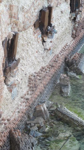 The crumbling Wall of Fort Jefferson.