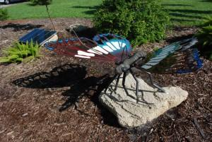 """Solar Butterfly"" by Rein Treifeldt (#4) uses solar energy to move its wings."