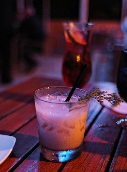 Rum and tahini: Sesame colada cocktail at El Nosh pop-up Latin Deli.