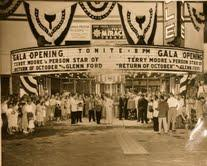 This photo is of the Miracle Theater in Coral Gables during a film premeire in 1950.