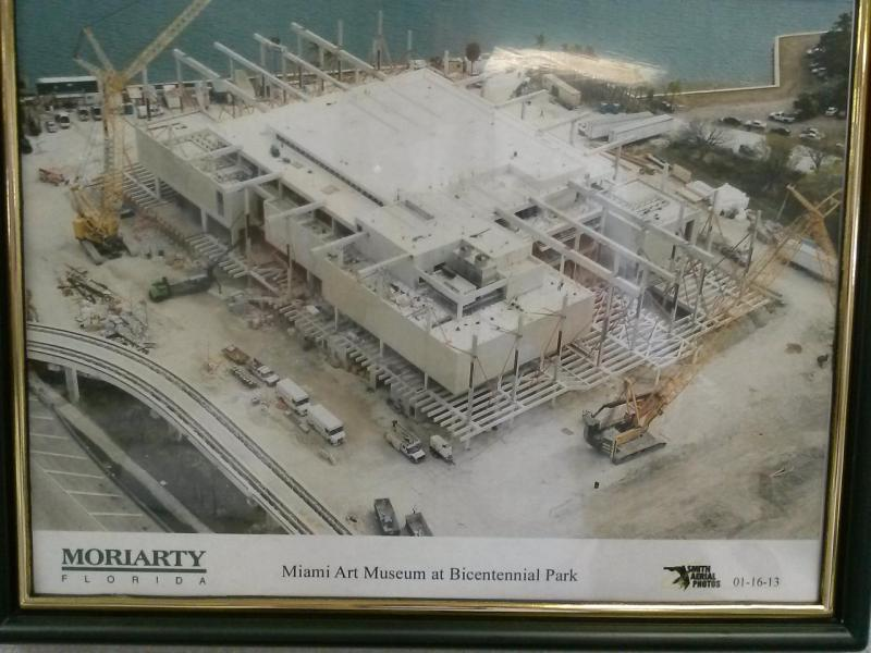 Latest in the series of aerial photos documenting the progess of the Perez Art Museum Miami
