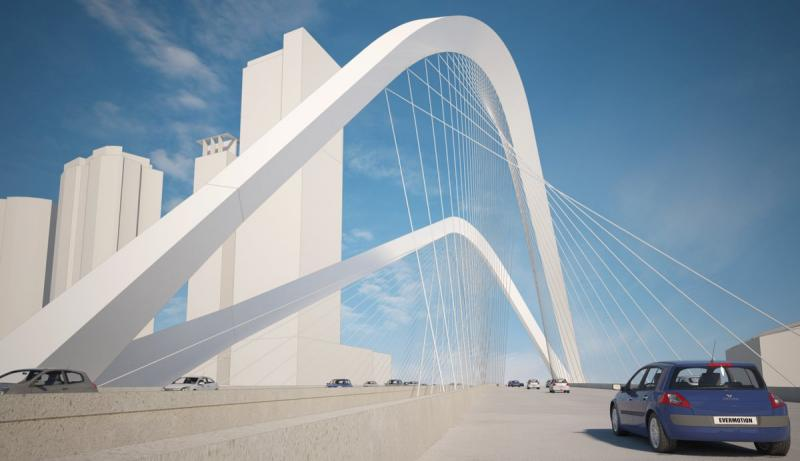 The bridge could provide the city with a stunning new bridge span.