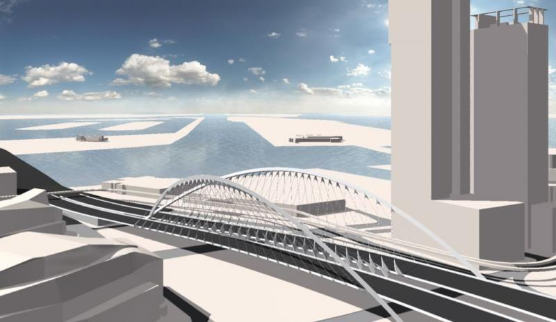 Original designs for a new I-395 flyover called for an artistic look.