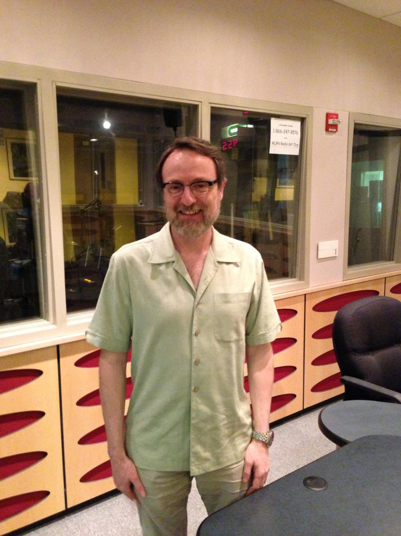 Peter Cappelli at the WLRN Studios