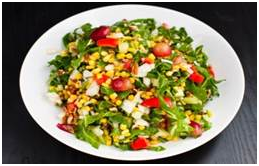 Salad Latine, This salad forms a protective vitamin shield around your brain. It's rich in vitamin E, folate, and B vitamins.