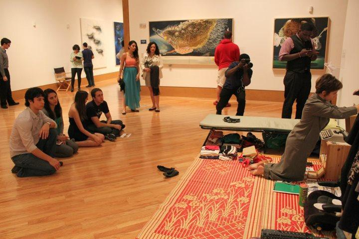 Catalina Jaramillo performing in the Frost Museum for the opening reception