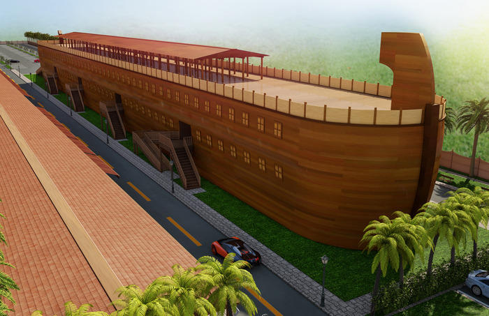 Computer rendering of the completed Hidden Ark project