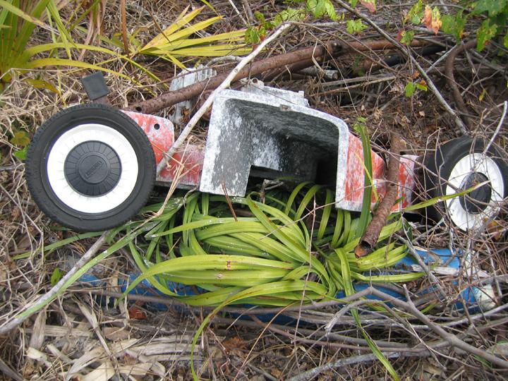 Portions of a lawnmower removed from Limestone Creek in Jupiter.