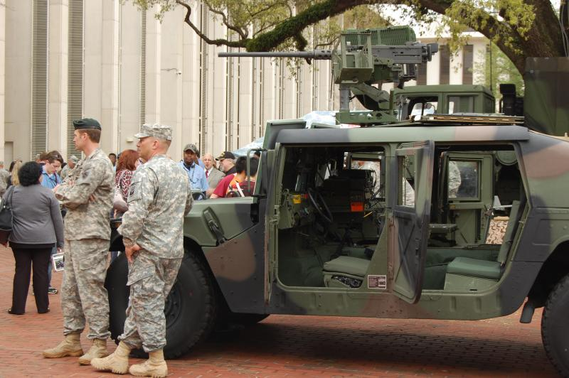 National Guard troops spend the day at the Capitol showing off equipment.