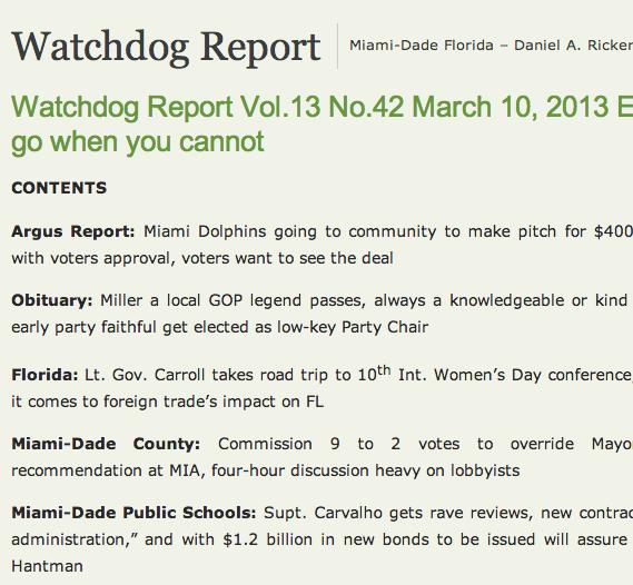 Screen shot of the website