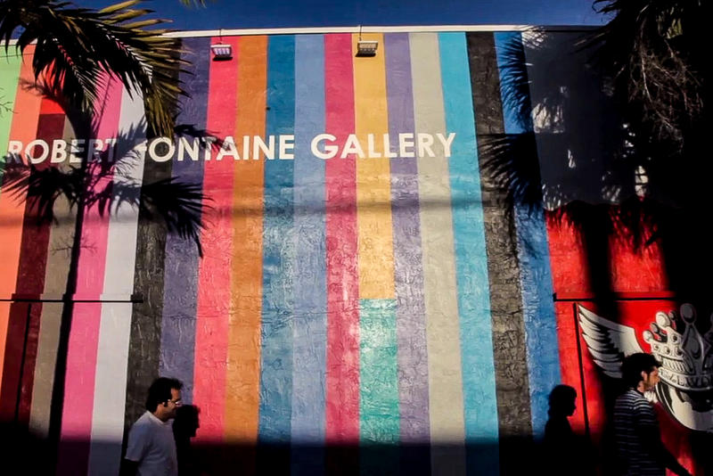 A screenshot of Wynwood's Robert Fontaine Gallery from the film Right to Wynwood