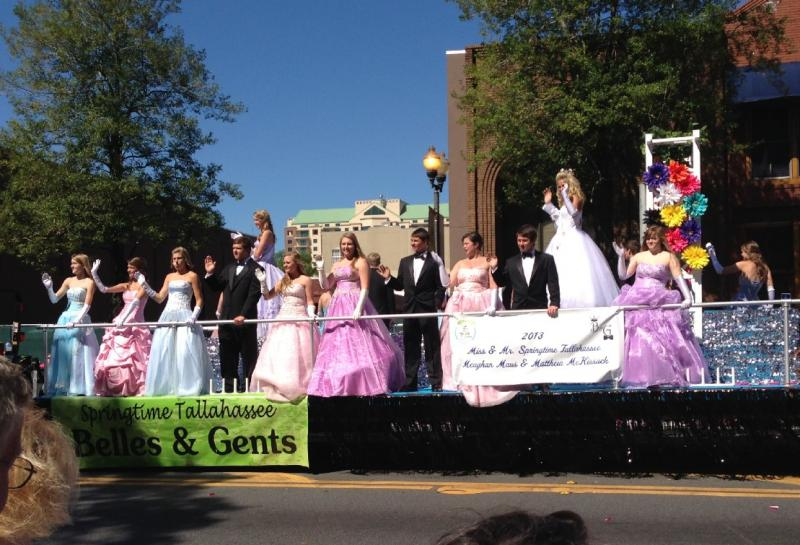 Springtime Belles and Gents -- These high school students perform community service and are trained in poise and etiquette.
