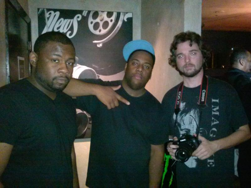 Team captain Kevin Duplan, left, and members of the Inno Films team