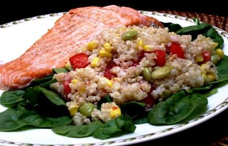 Chilean Salmon, Quinoa and Corn Salad