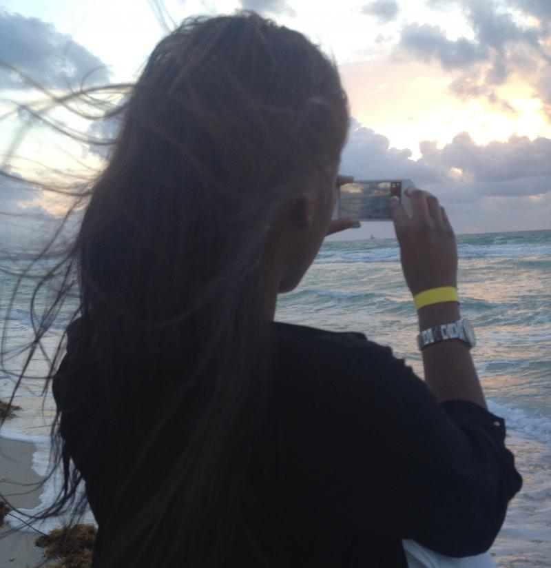 Malika Everette, visiting from Atlanta, posted photos of sunrise on Miami Beach to Instagram.