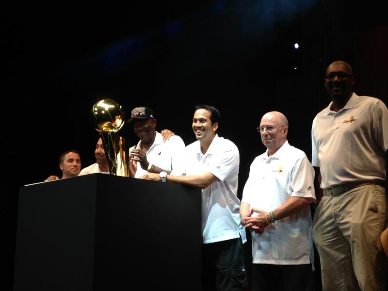 Head Coach Erik Spoelstra and the rest of the coaching staff