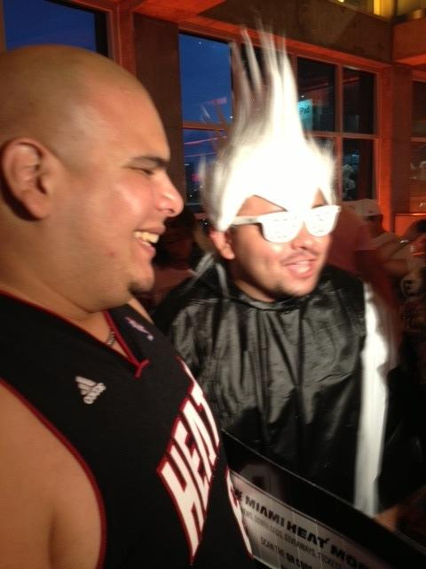 Miami's Frank Colminares sports the Birdman spike.