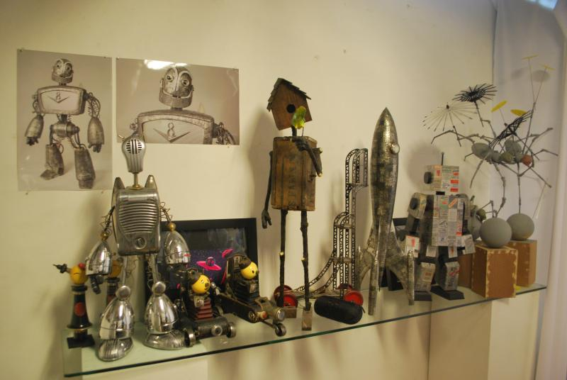 Rivamonte's robots made from vintage pieces