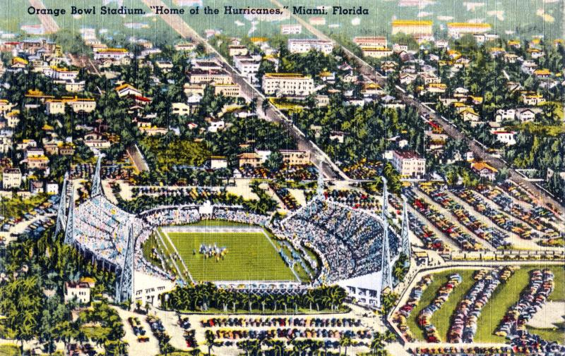 Orange Bowl postcard, circa 1940
