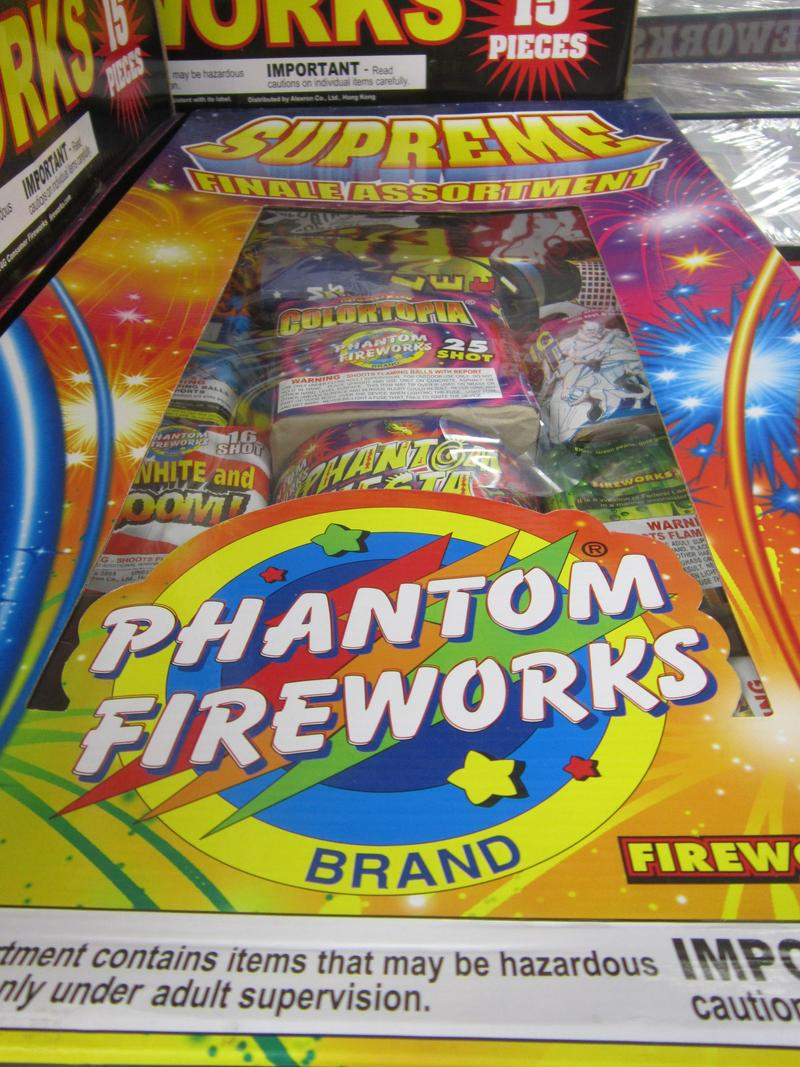 Assortment packages, which bundle many different types of fireworks, are some of Phantom's most popular items.