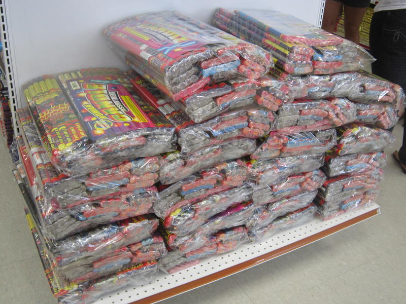 Roman candles, which eject exploding shells, are not legal for recreational use in Florida.