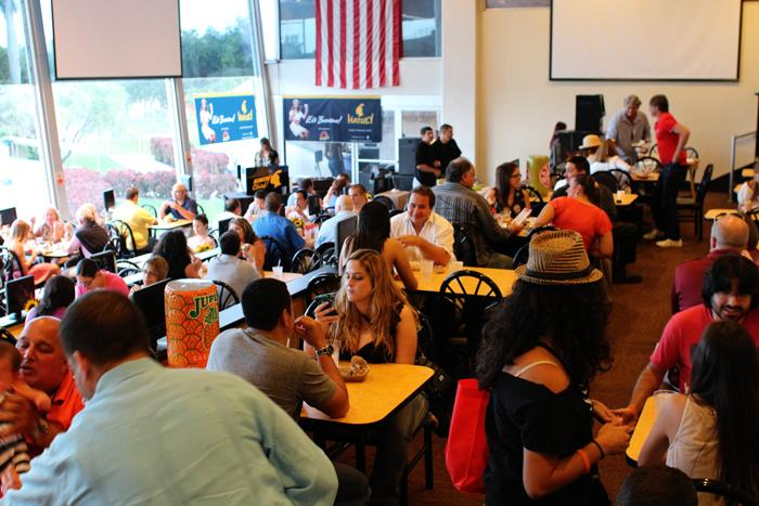 Frita Showdown took place in one of the restaurants at Magic City Casino, overlooking the race track.