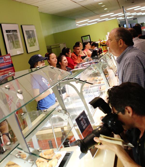 Guests sampled each of the five fritas, or Cuban hamburgers, at the Frita Showdown.