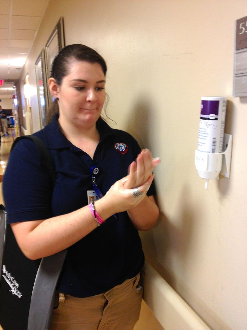 Volunteer Madison Herin hopes to become a doctor one day.
