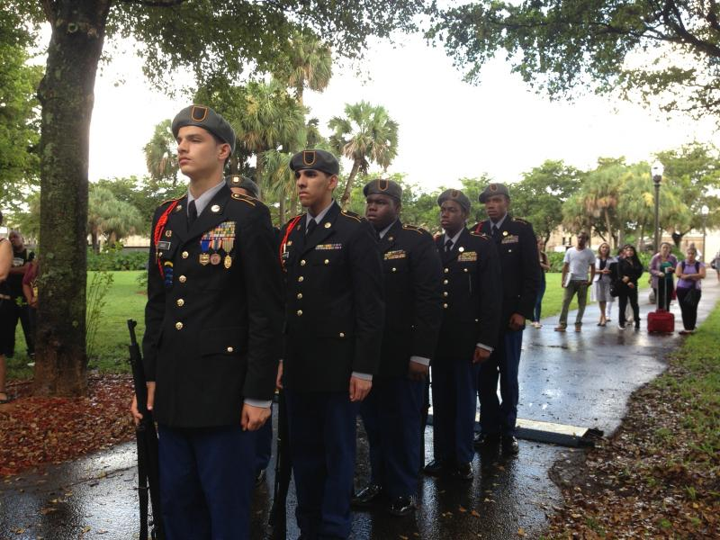 Miami-Dade College students featured heavily in the service.