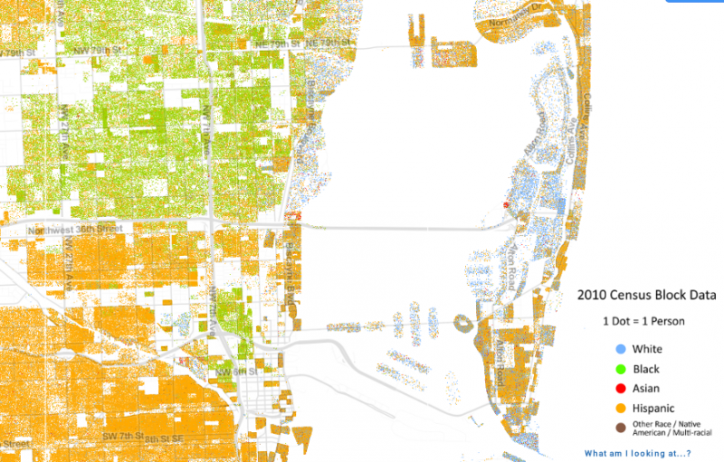 Map Of South Florida Shows How Racially Segregated We Are WLRN - Us map miami