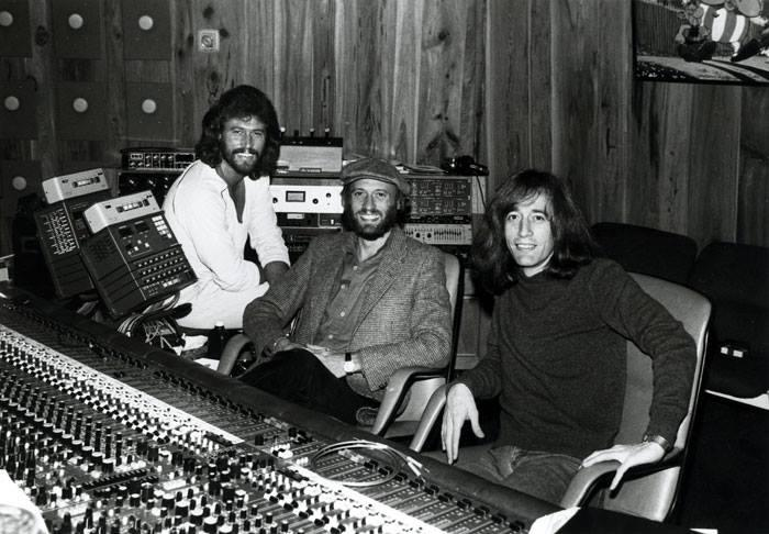The Bee Gees at their Middle Ear Studios in Miami.