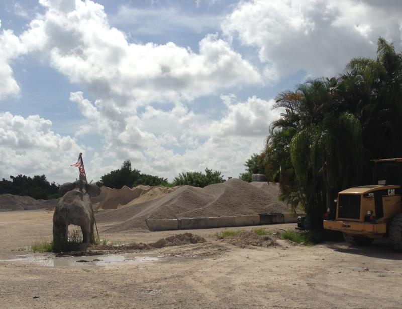 (Photo taken 8/22/13 from roughly the same spot as previous photo.) Without proper permitting, the Hidden Ark team had to dismantle their project. A pile of sand and rocks now sit where the ark was under construction. (Taken 8/22/13)