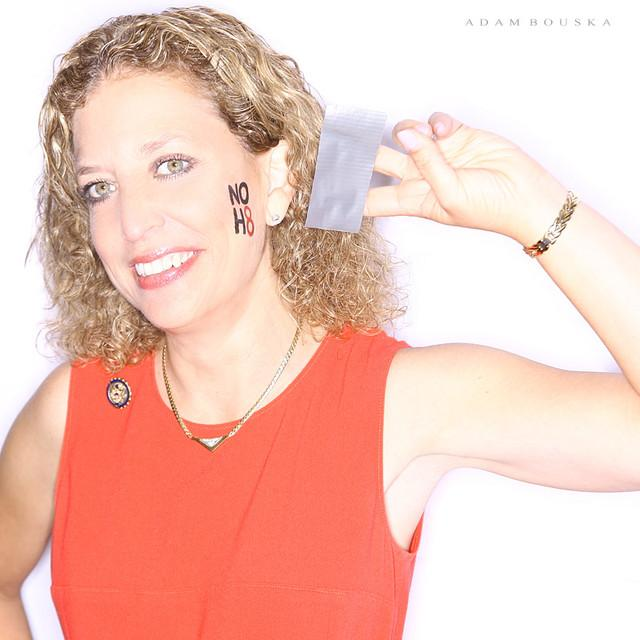 Rep. Schultz posing for celebrity photographer Adam Bouska's noh8campaign.com supporting the GLBT community.