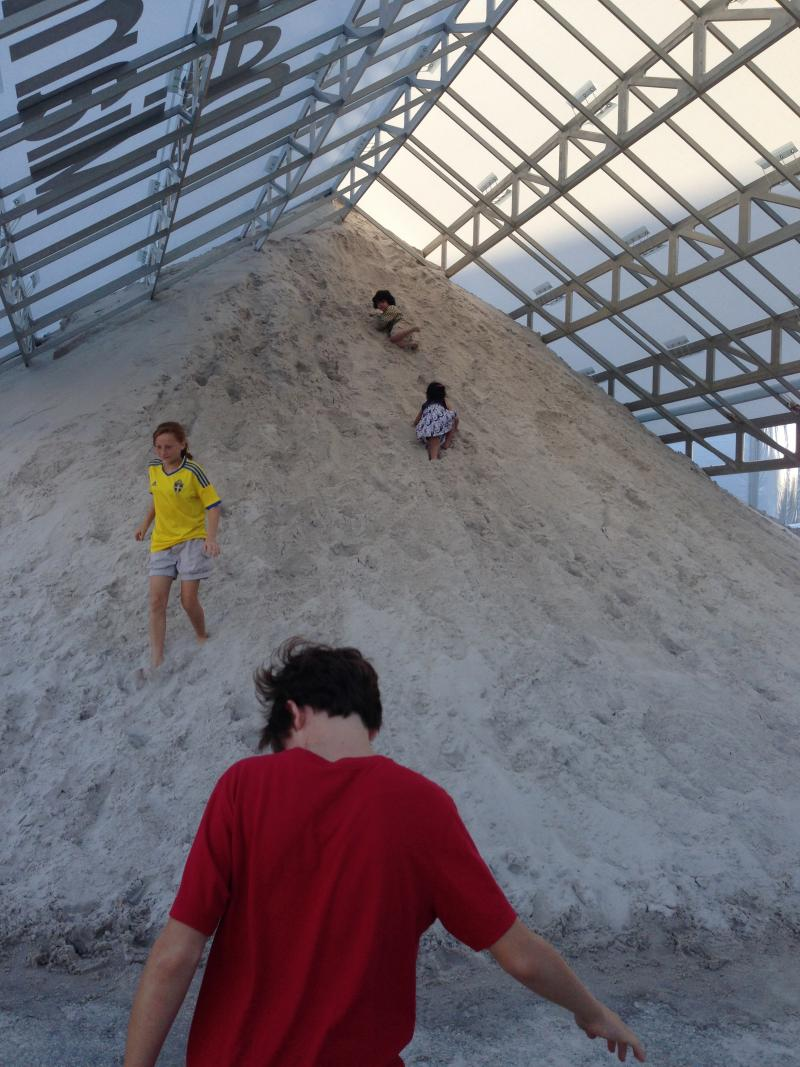 Design Miami mountain of sand.