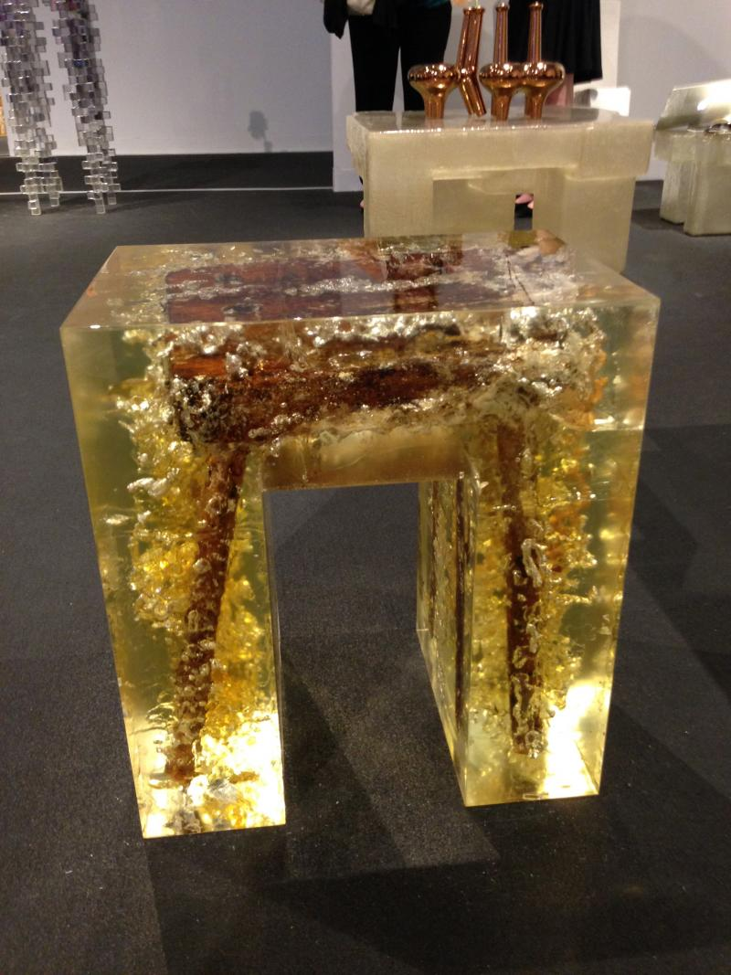 Stool in a stool at Design Miami.