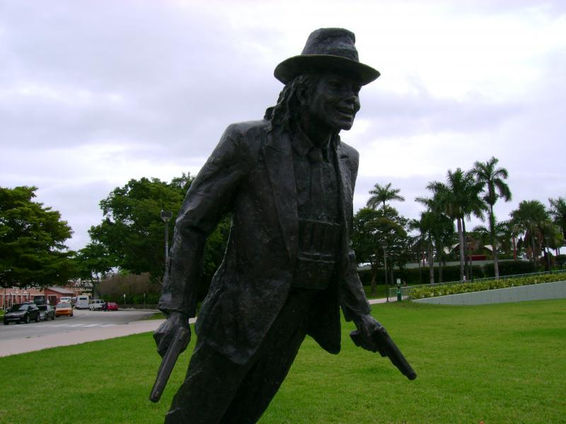 There are also statues of sports stars, artists and entertainers such as Michael Jackson.