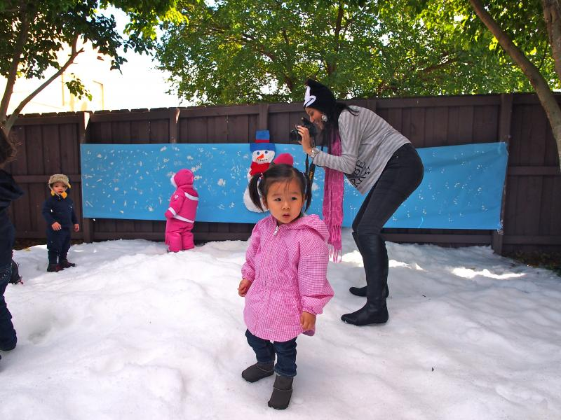 Elaine Chen's daughter, 2-year-old Juno, is deciding how she feels.