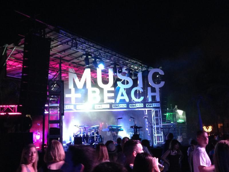 Music + Art event at Scope Art Fair.