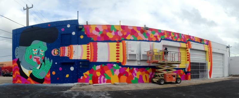 Street artist Kashink's mural in Wynwood.