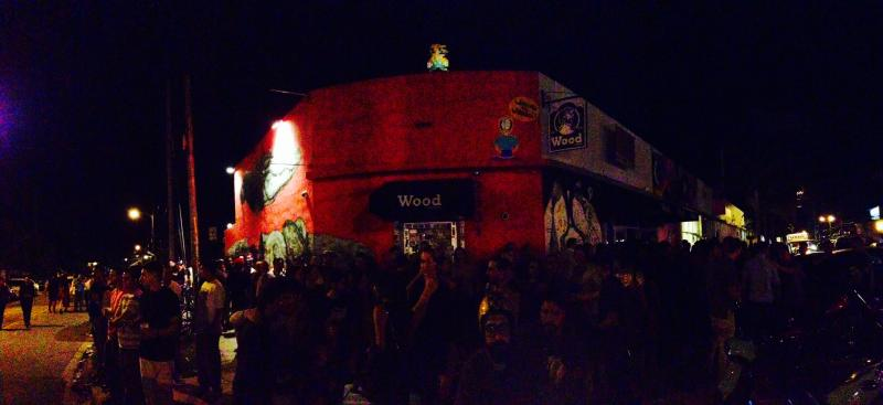Part of the crowd in Wynwood.