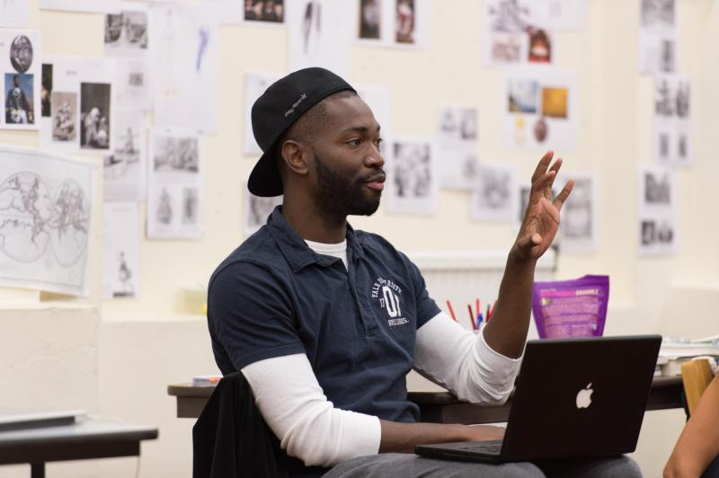 'Antony and Cleopatra' director Tarell McCraney during rehearsal