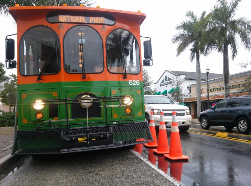 Homestead's trolley goes to and from Everglades National Park three times, and Biscayne National Park twice on Saturdays and Sundays.