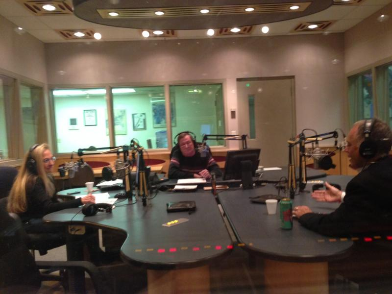 Paul Lipton at WLRN with Bonnie and Joseph