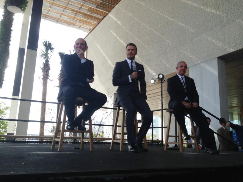 From left to right: Garber, Beckham, Gimenez