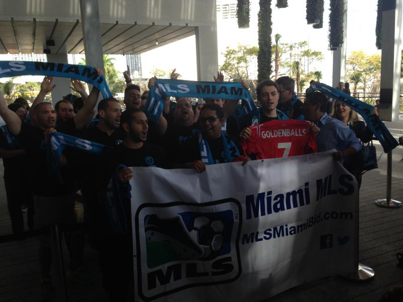 Major League Soccer fans celebrate announcement.