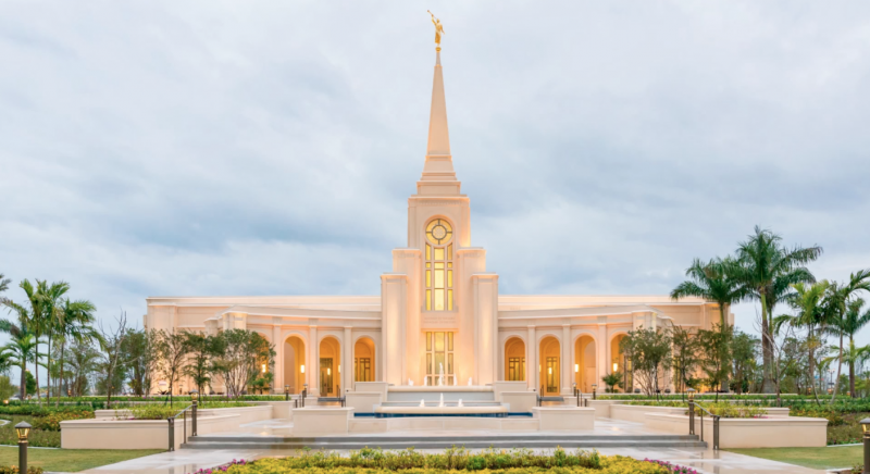 Here's a day shot of The Fort Lauderdale Temple.